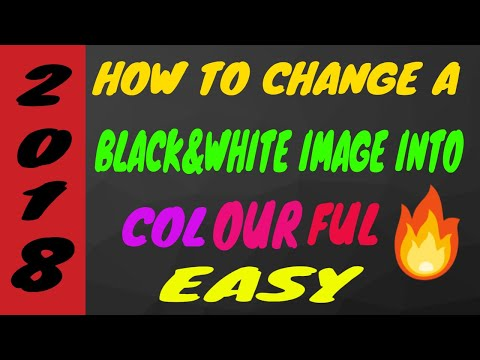 How To Change Black And White Image Into Colourful ||2018||by Active Ronak |||