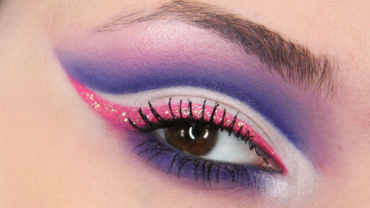 pink glitter makeup tutorial