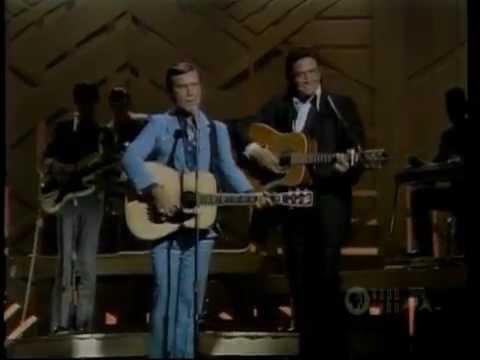 George Jones & Johnny Cash - White Lightning & She Thinks I Still Care