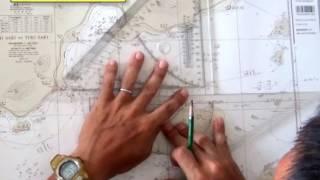 緯度・経度の測り方を学ぶ。三角定規の持ち替えを少なく、正確に測ろう。