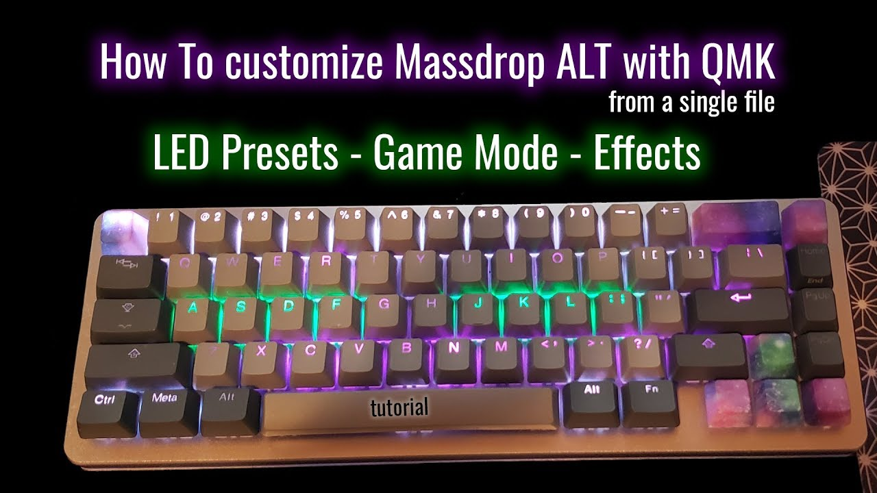 How To custom multi layer LED Massdrop ALT with QMK