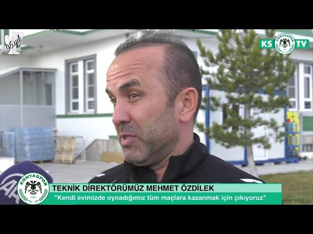 Teknik Direktörümüz Mehmet Özdilek Beşiktaş maçı öncesinde açıklamalarda bulundu