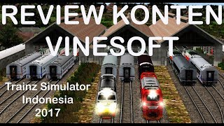 Review Konten Vinesoft   Trainz Simulator Indonesia 2017