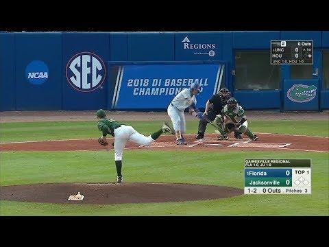2018 NCAA Baseball Tournament Florida vs Jacksonville 6 1 2018