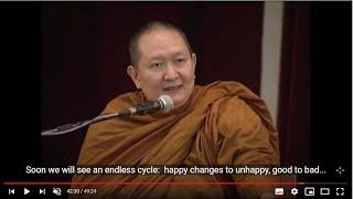 Dhamma Talk with English Subtitle by venerable Pramote Pamojjo teaching Vipassana Meditation