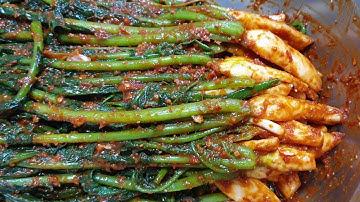 열무김치 담그는법 , 통통한 가을열무로 담은 열무김치 황금레시피 young radish kimchi