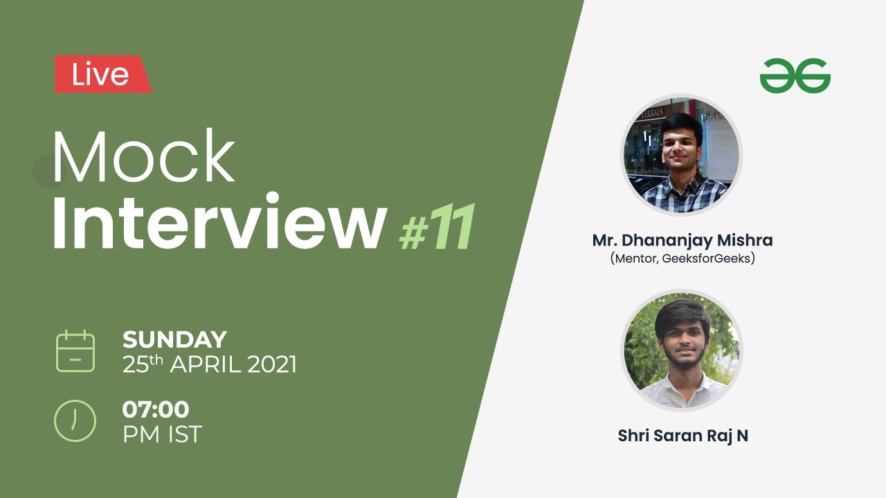 Live Mock Interview   Technical Round - DSA Based Questions