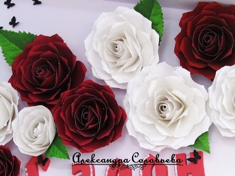 Красивые розы из бумаги своими руками для декора зеркала или стен