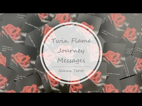 開箱  雙生火焰旅程訊息卡 • Twin Flame Journey Messages // Nanna Tarot