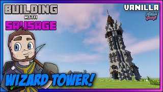 Minecraft - Building with Sausage - Wizard Tower [Vanilla Tutorial 1.11]