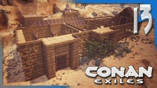 UPGRADING STATIONS & BUILDING THE THRALL ARMY!| Conan Exiles Multiplayer Gameplay/Let's Play S4E13