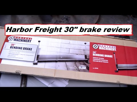 Harbor Freight 30 inch bending brake review