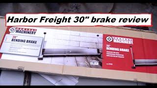 Harbor Freight 30 inch bending brake review