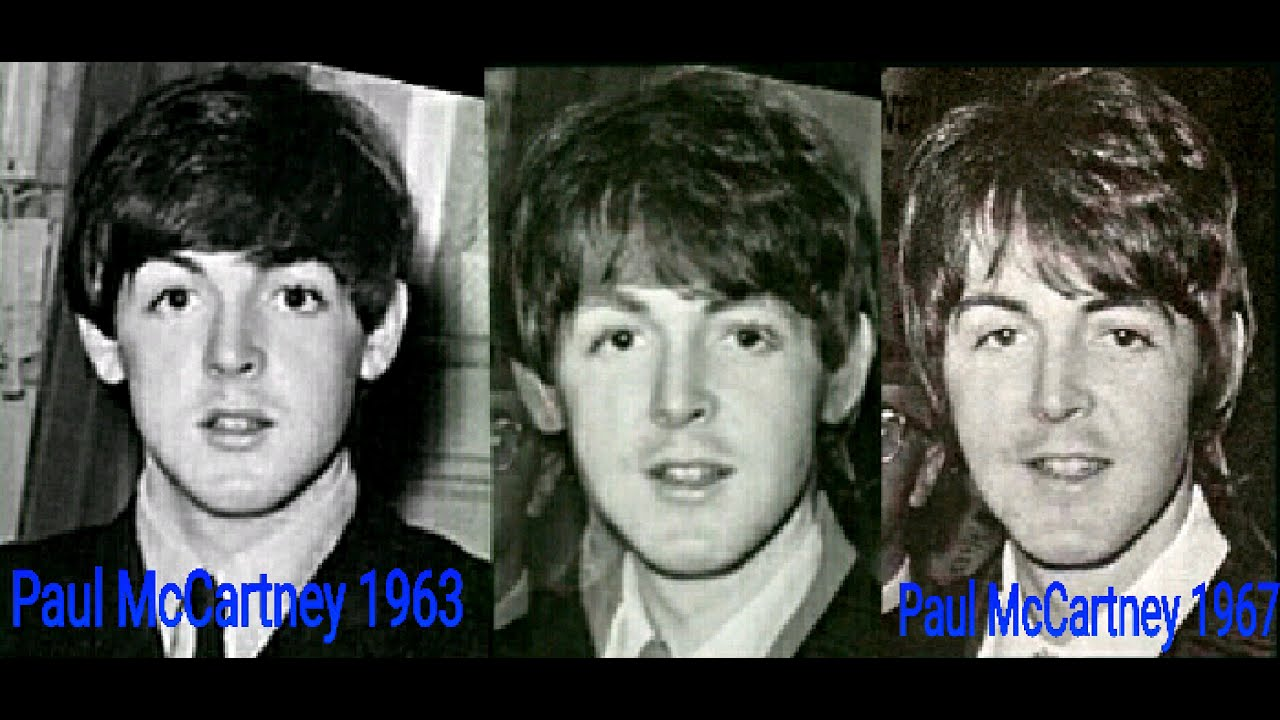 Paul McCartney Photo Comparison 1963 1967
