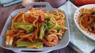 【白蝦料理】「白蝦料理」#白蝦料理,[黑胡椒海鲜乌冬...