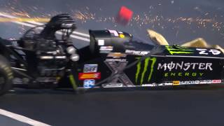 Brittany Force has huge crash in Pomona