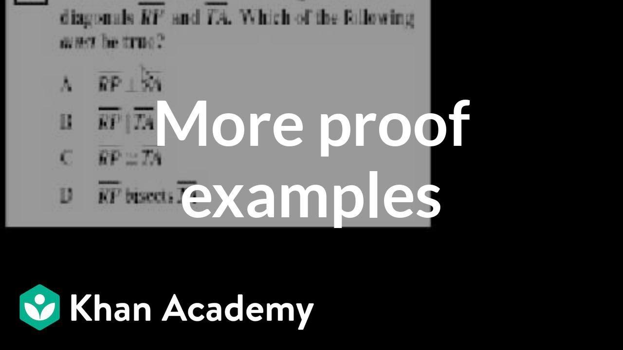 CA Geometry: More proofs (video)  Khan Academy Within Geometry Worksheet Beginning Proofs