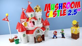 Super Mario Mushroom Kingdom Castle World of Nintendo Toys