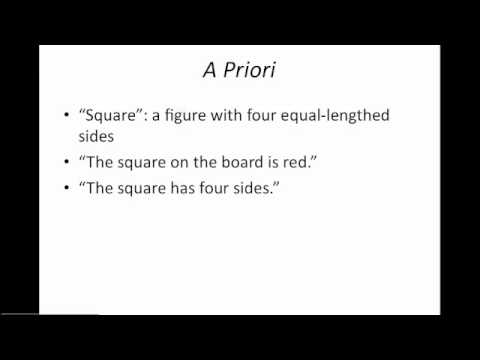 3.2 - A priori vs A posteriori Reasoning