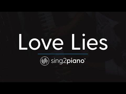 Love Lies (Piano Karaoke Instrumental) Khalid & Normani