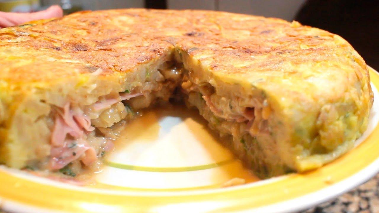Tortilla Rellena de Jamón, Roquefort y Nuez, super sabrosa y fácil! | Anota los Ingredientes