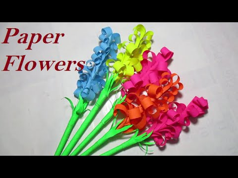 Paper Flowers Easy Paper Flowers For Kids Youtube