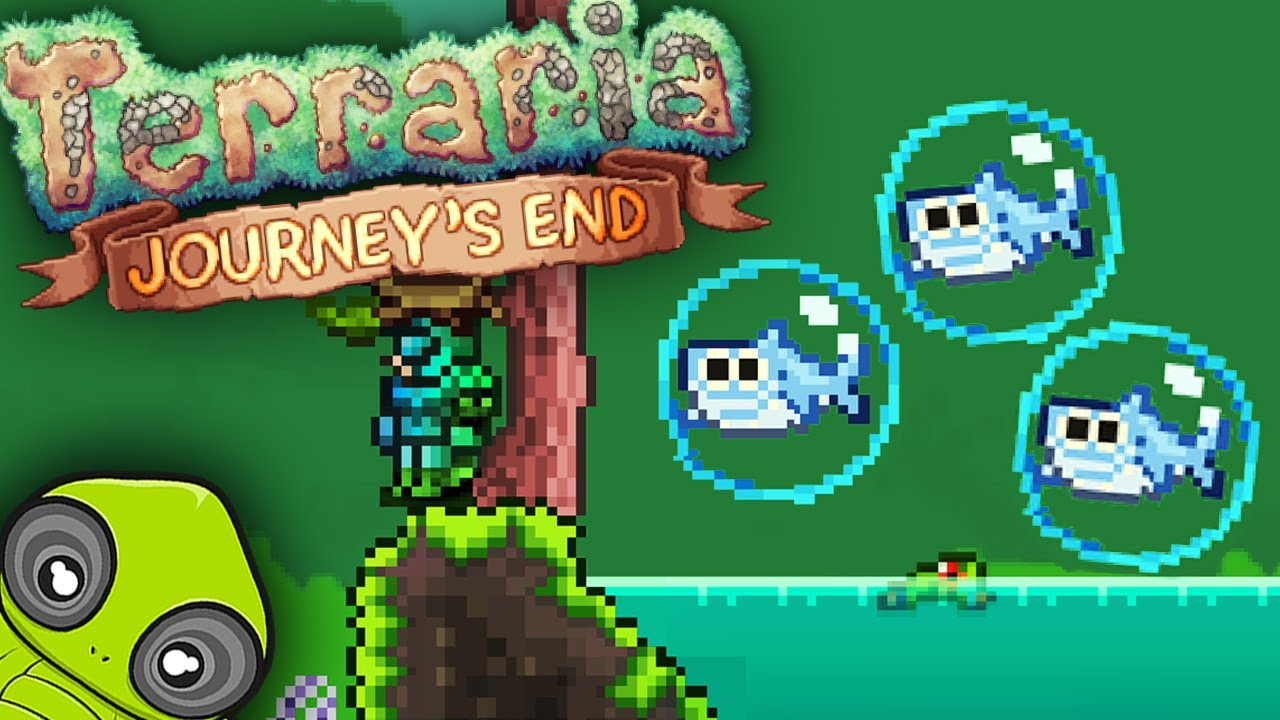 Cutest New Baby Shark Bait Pet First Look At Journey S End Terraria 1 4 Youtube