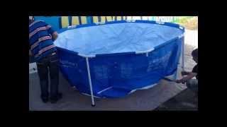 Сборка каркасного бассейна INTEX(Каркасный бассейн., 2014-06-08T05:56:48.000Z)