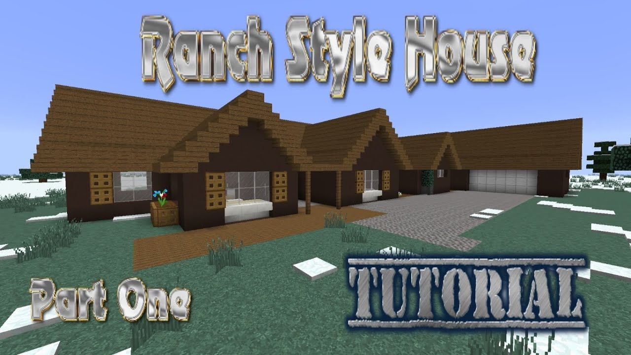 Minecraft Tutorial: Ranch Style House #122 (Part 122)