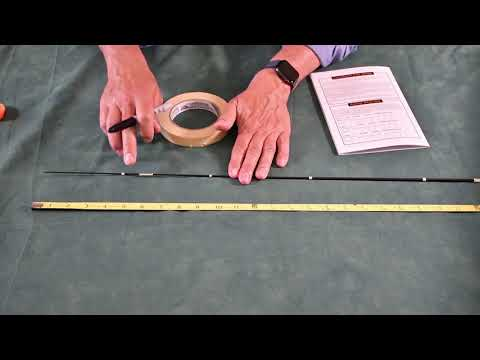 Step 3   Guide Spacing   Spinning Rod Building