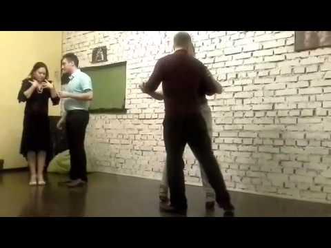 видео: Мои первые фигуры в танго... 4 февраля 2016 г.