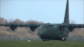 Hercules C 130 Royal air force take off Nantes atlantique airport