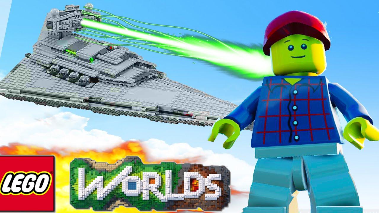 Lego Worlds Building Spaceship