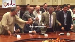 """بالفيديو والصور.. خناقة بـ""""حقوق الإنسان"""" فى البرلمان قبل بدء العملية الانتخابية"""