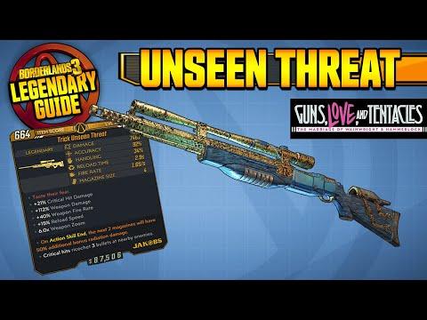BORDERLANDS 3 | UNSEEN THREAT - Legendary Weapons Guide!!! Guns, Love & Tentacles DLC