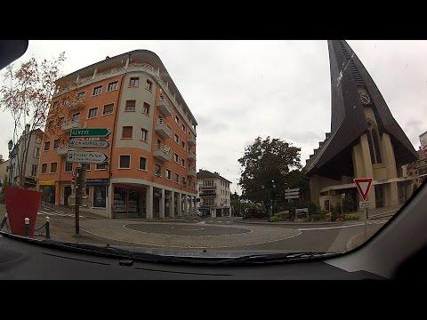 Saint-Julien-en-Genevois tour, Haute-Savoie (Upper Savoy), France – onboard camera