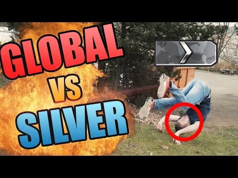 GLOBAL ELITE vs SILVER in Realen Situationen - CS:GO REAL LIFE