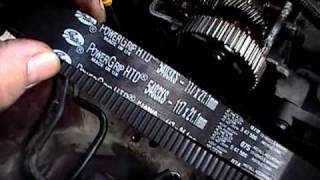 TOYOTA TIMING BELT installation on a toyota carina 1,6  4A-FE model