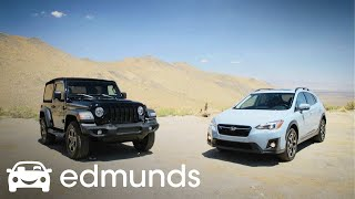 Can It Off-Road? The Champion Wrangler vs. the Crosstrek Challenger | Edmunds