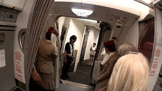 EMIRATES A380 EK385 FIRST CLASS MACAO HONG KONG DUBAI 301013