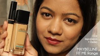 Maybelline Fit Me range: First Impression+ Demo | #RituRajput
