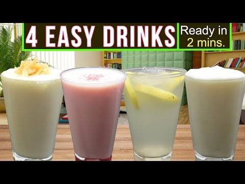 4 Delicious Easy Drinks Recipe (Ready in 2 mins!) | Summer/R