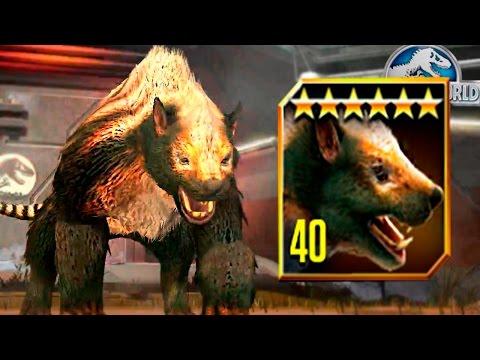 LEGENDARY MARSUPIAL LION MAX LVL 40! - Jurassic World The Game - *New Cenozoic* HD