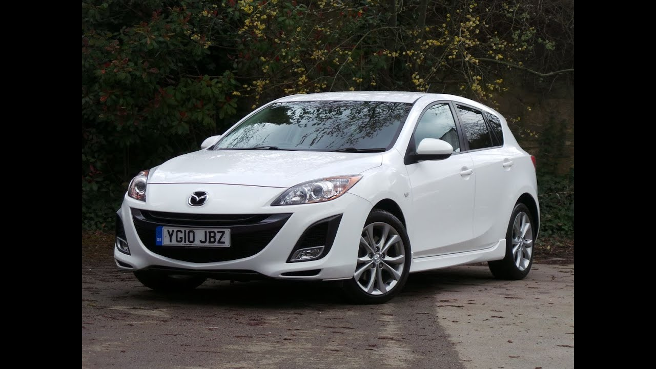 2010 10 Mazda Mazda3 2.2d 185 Sport 5dr in white - YouTube