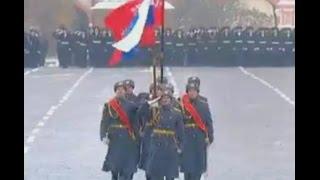 Москва  Красная Площадь. Парад в честь исторического парада 7 ноября 1941 года