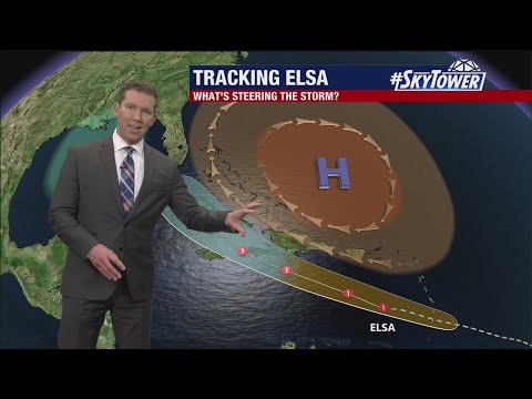 Hurricane Elsa Friday night forecast update