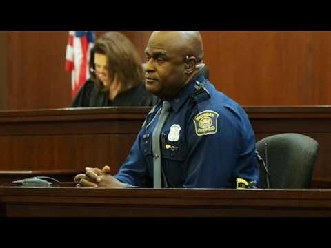 Michigan State Police trooper Garry Guild testifies how teenager choked him