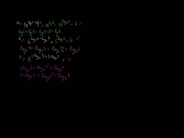 Azonosságok a logaritmussal 3