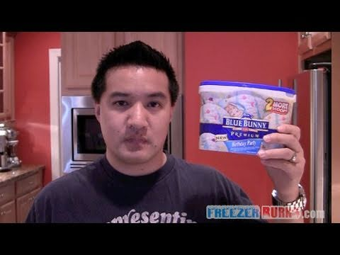 Video Review of Blue Bunny Premium Birthday Party Ice Cream YouTube