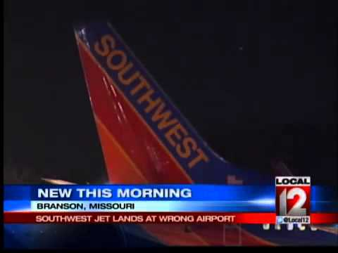 Southwest jet lands at wrong Missouri airport